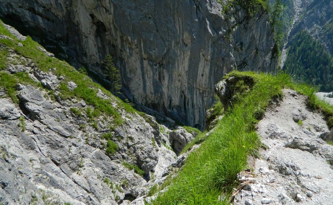 Abstieg Hochalmscharte Wimbachgries, Nationalpark Berchtesgaden