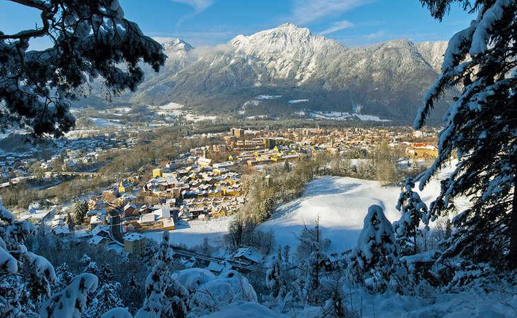 Alpenstadt Bad Reichenhall Winter 1
