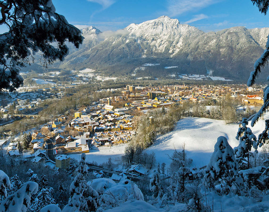 Alpenstadt Bad Reichenhall Winter