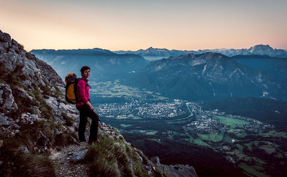 Ausblick Vom Hochstaufen Auf Die Alpenstadt Bad Reichenhall