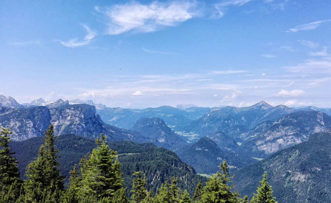 Ausblick Vom Predigtstuhl Alpenstdat Bad Reichenhall