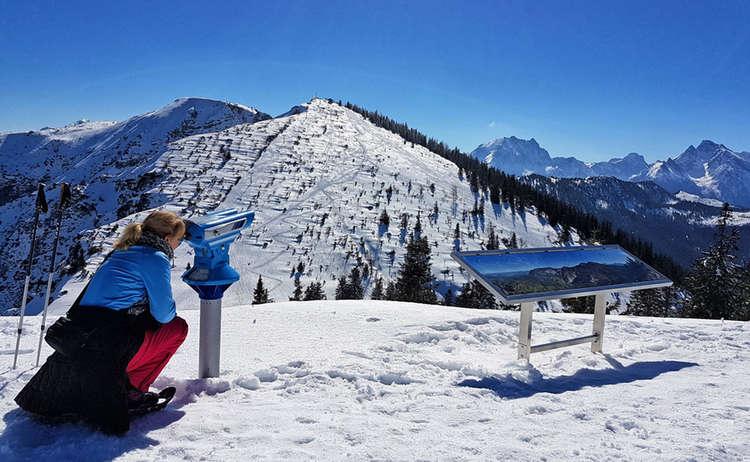 Aussicht Predigtstuhl Schneeschuh