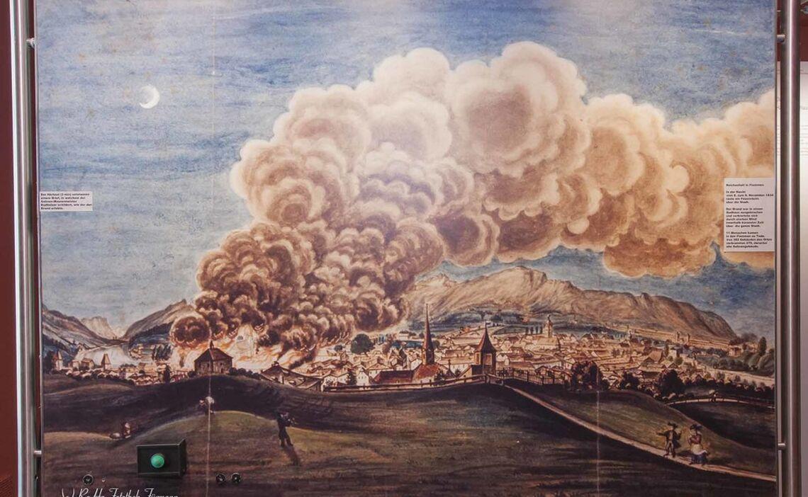 Gemälde vom Stadtbrand