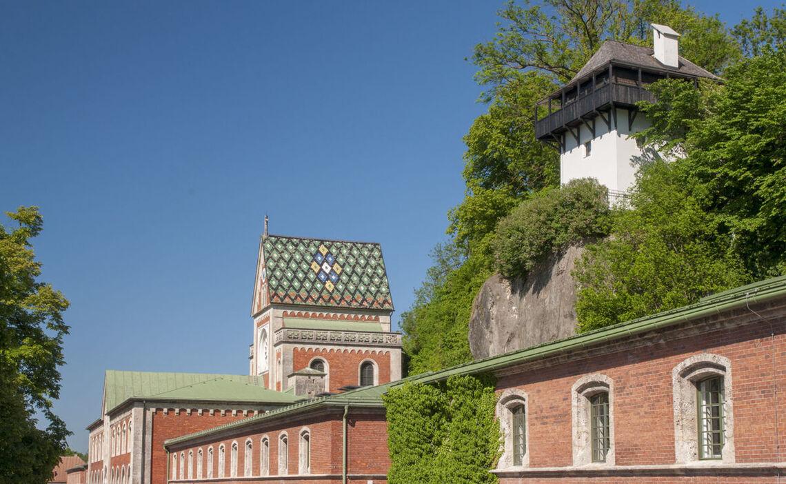 Das bunte Dach der Alten Saline