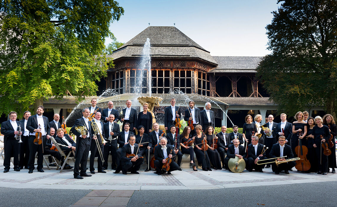 Bad Reichenhall's Philharmonic Orchestra in the Spa Garden