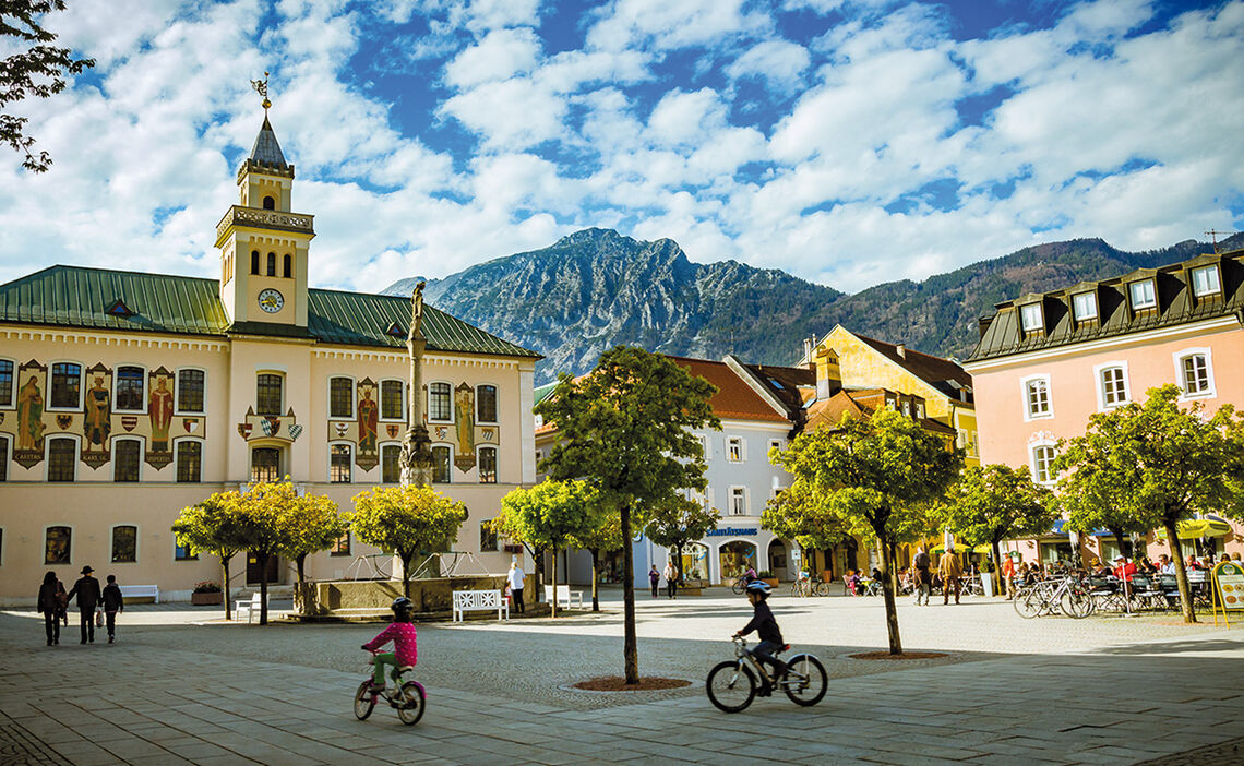 Bad Reichenhall's town hall square