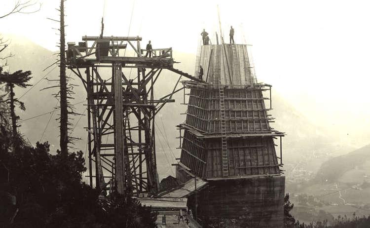 Der Bau der Predigtstuhlbahn