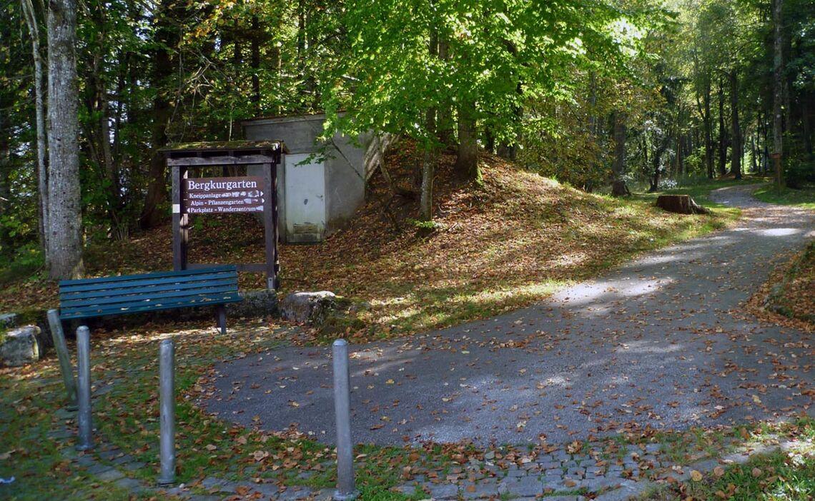 Der Bergkurgarten in Bayerisch Gmain