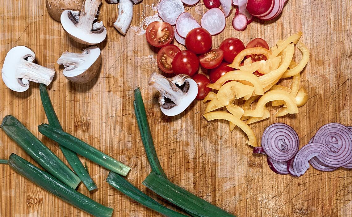 Gemüse für die Focaccia