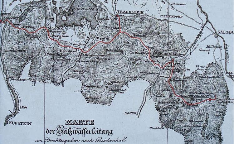 Geschichte Bad Reicehnhall Soleleitung 1