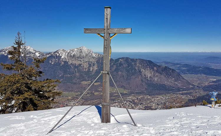 Das Gipfelkreuz des Predigtstuhls