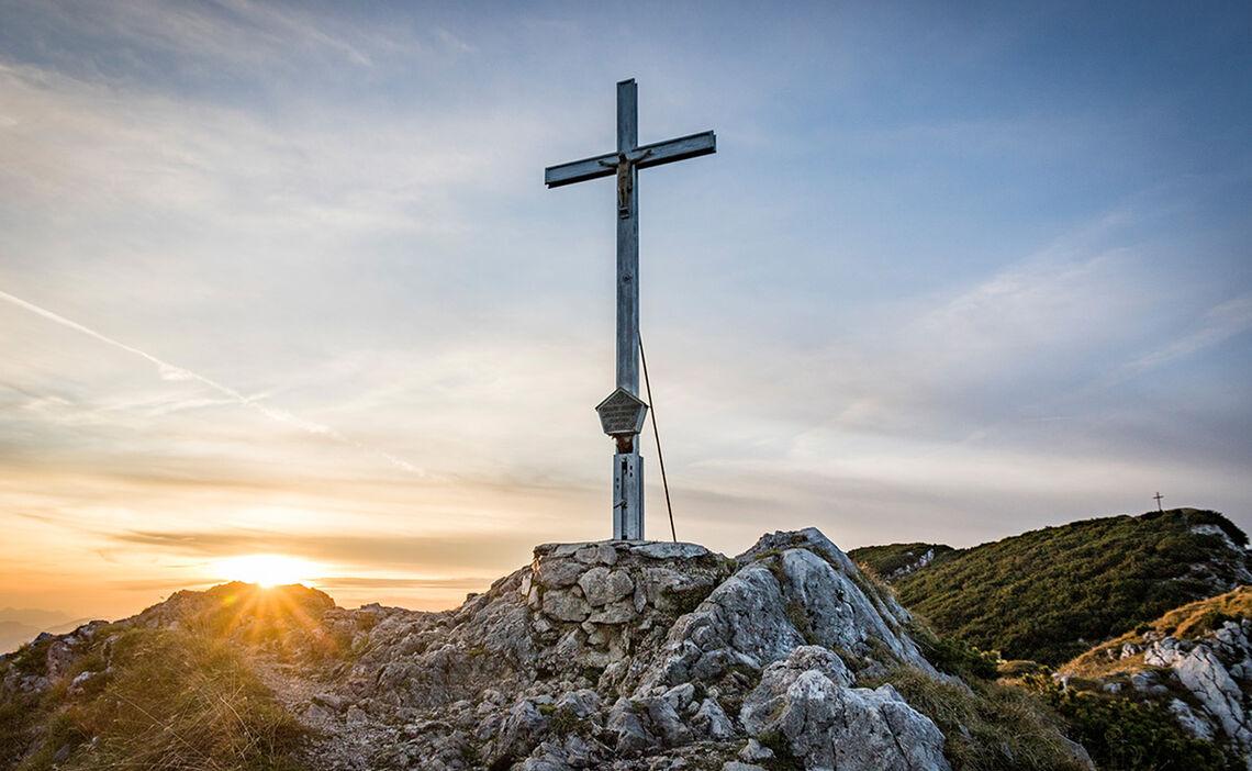 Das Gipfelkreuz auf dem Zwiesel