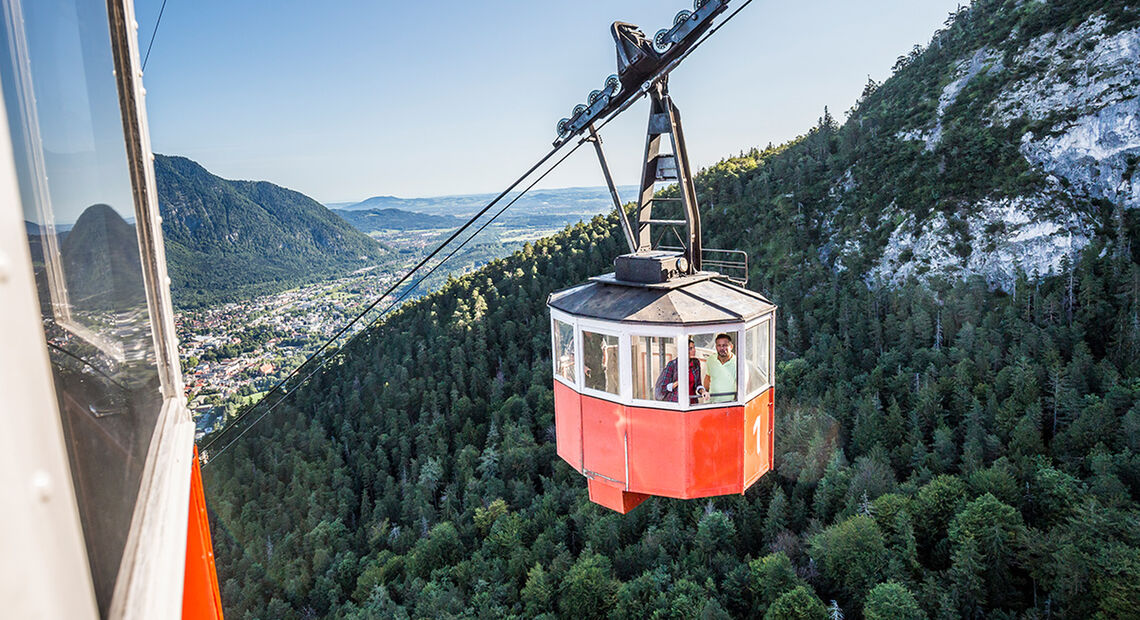 Gondel Predigtstuhlbahn Alpenstadt Bad Reichenhall