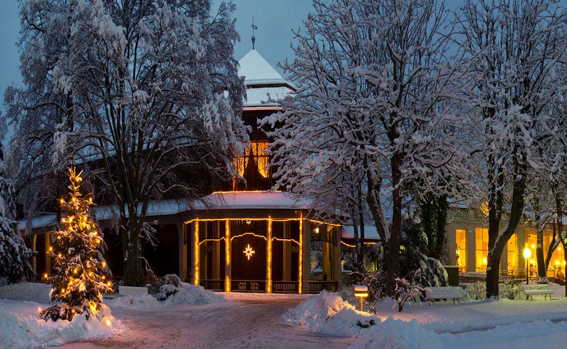 Gradierhaus Kurgarten Bad Reichenhall Winter