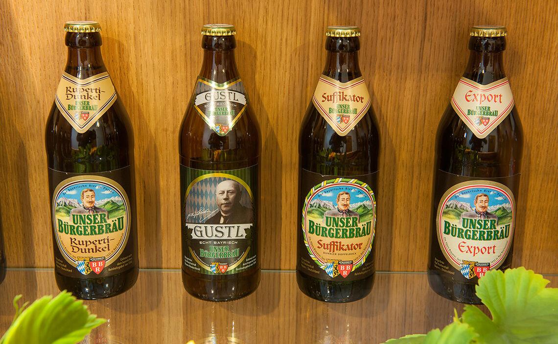 Bier Sortiment Bürgerbräu Bad Reichenhall | Heimatbrauer