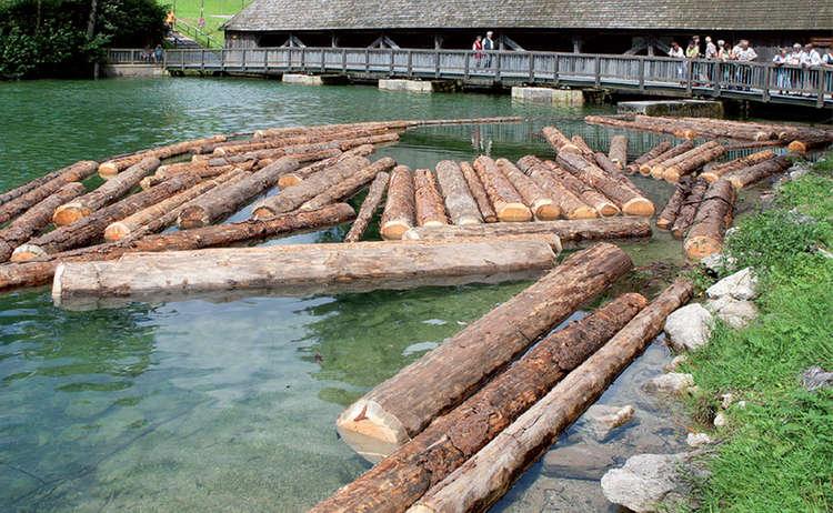 Holztrift Historischer Holztransport
