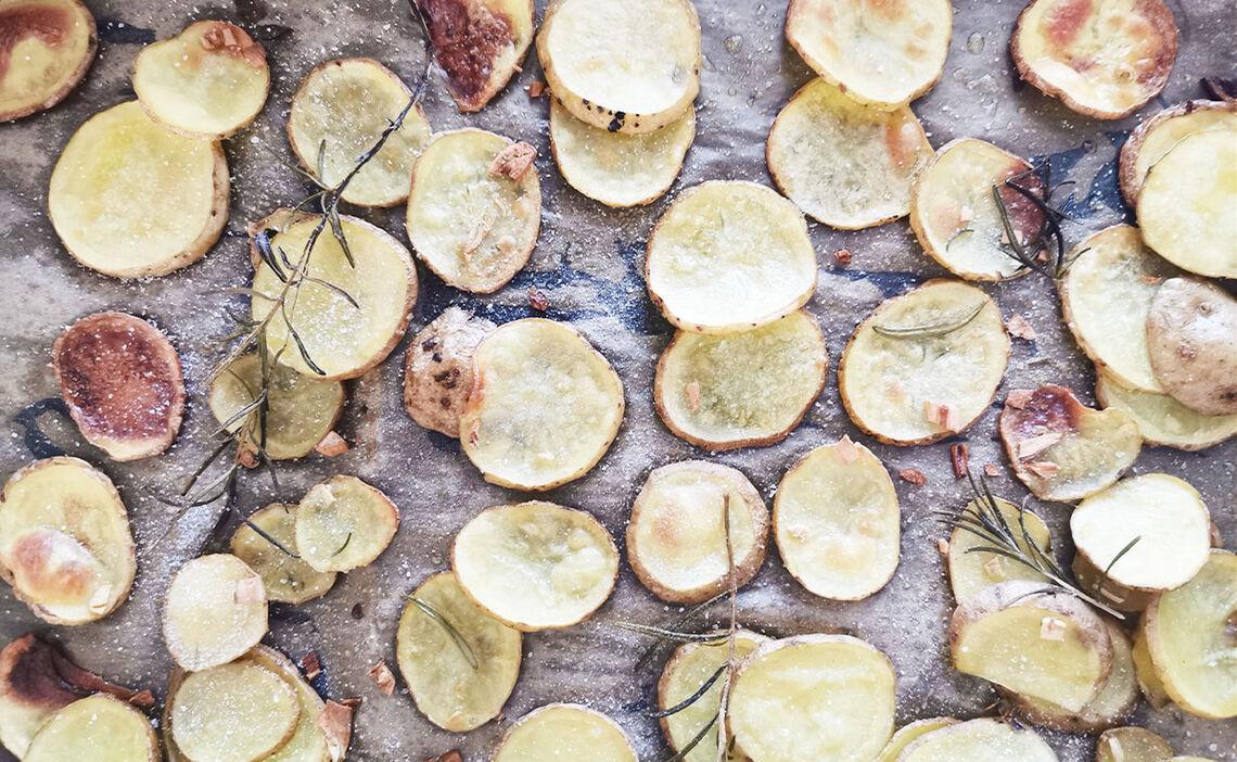 Fertige Kartoffelchips