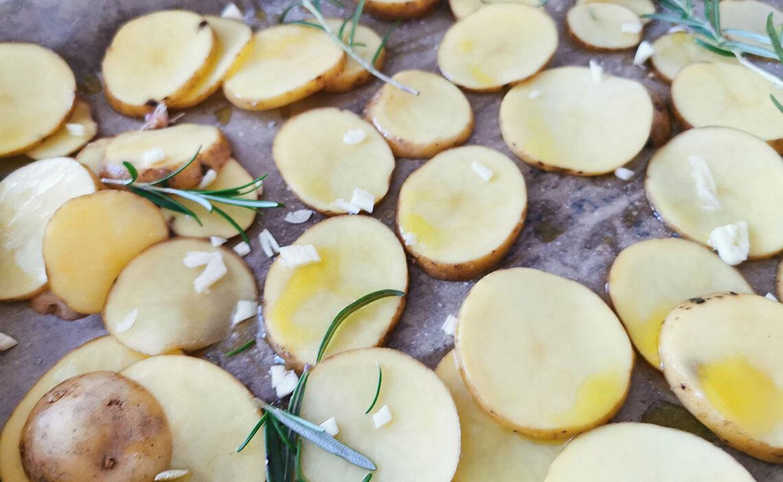 Kartoffeln aufs Blech