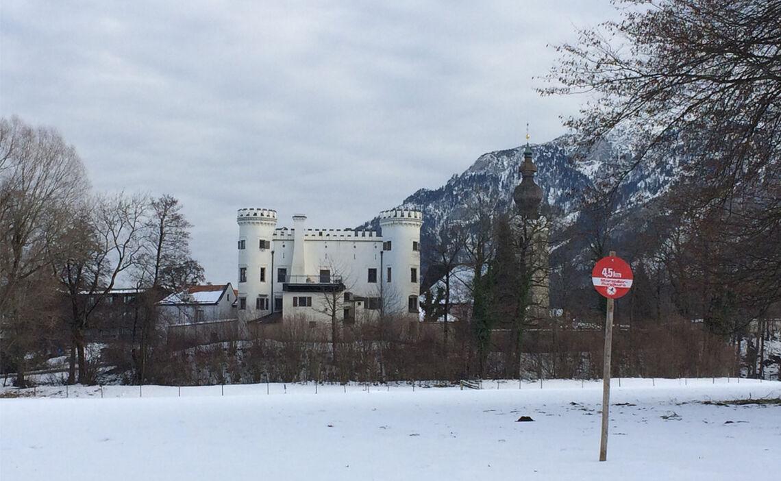 Langlauf Loipe Schloss Marzoll
