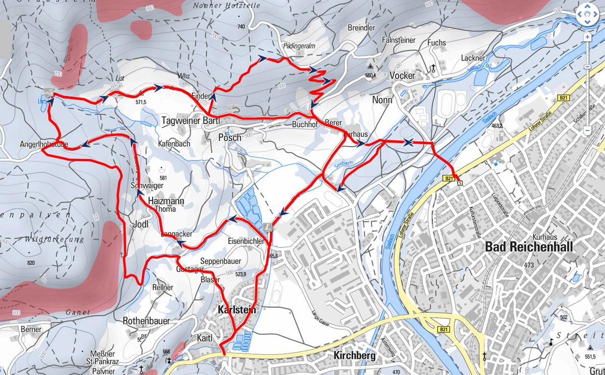 Nonnerweg Karte