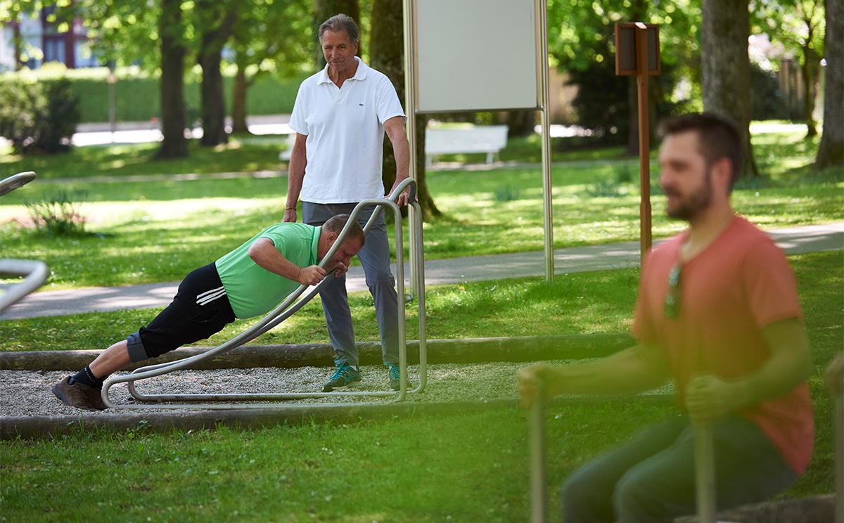 Outdoor Fitness Parcours Im Rupertuspark 2