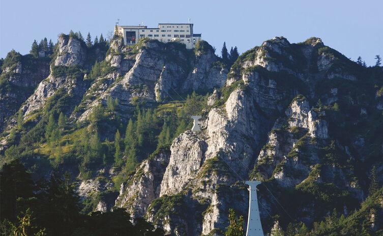 Blick auf die Predigtstuhl Bergstation in Bad Reichenhall