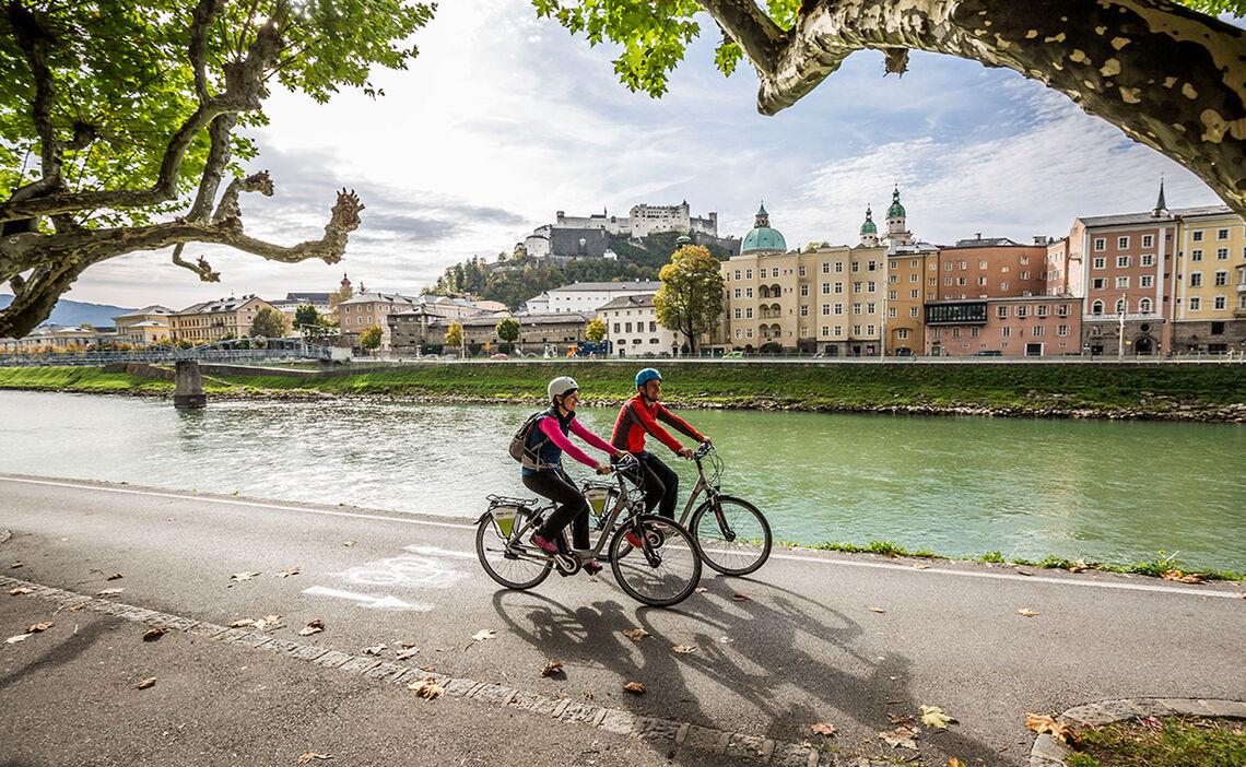Mit dem Fahrrad oder E-Bike nach Salzburg