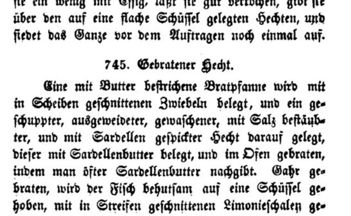 Kochbuch von Anna Koller 1851
