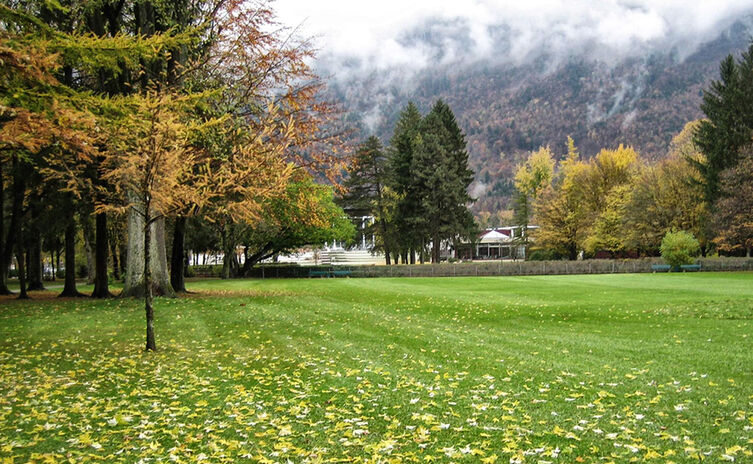 Herbst im Rupertuspark Bad Reichenhall
