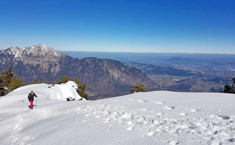Schneeschuhtour im Lattengebirge: Aufstieg zum Predigtstuhl