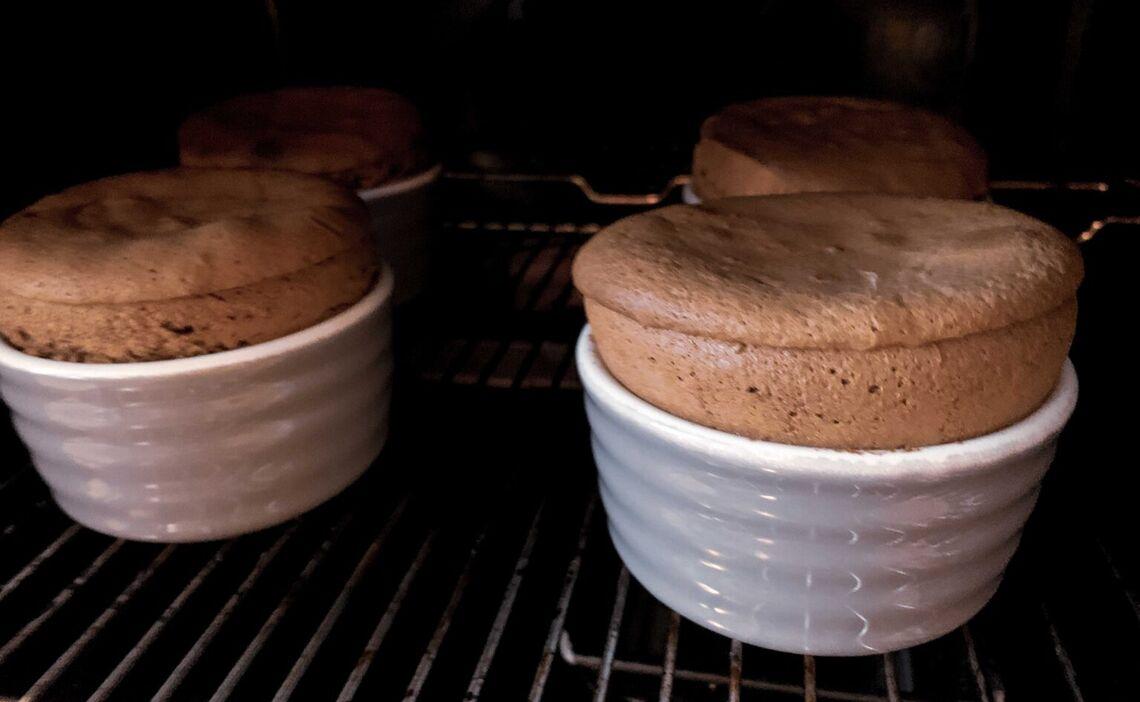 Schokokuchen im Ofen