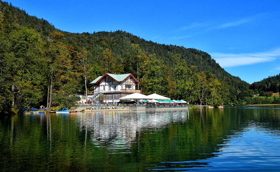 Seewirt Thumsee Herbst Alpenstadt Bad Reichenhall