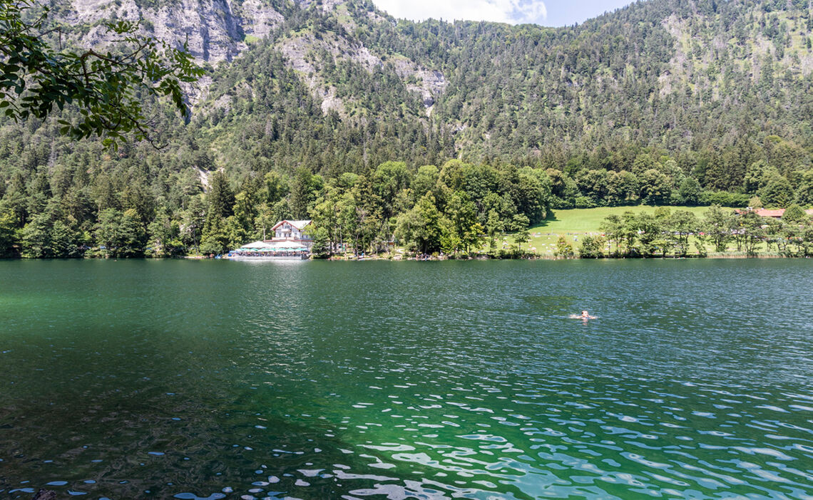 Swim in lake Thumsee