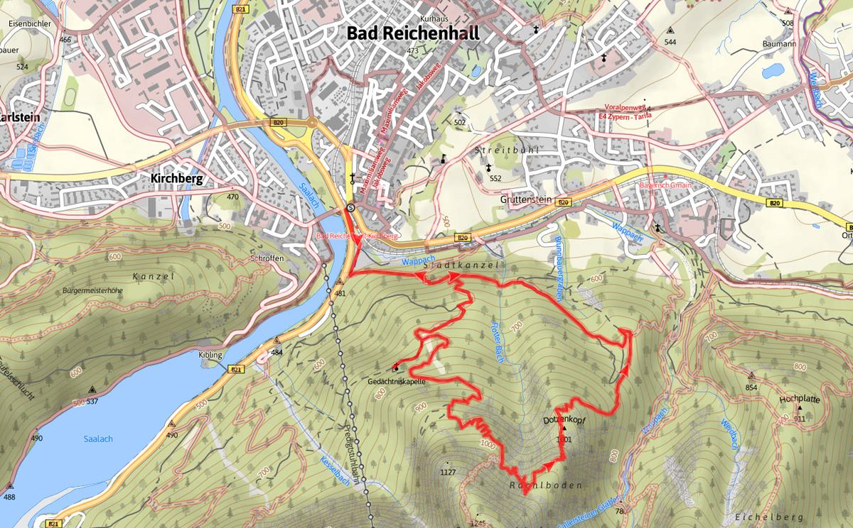 Streckenverlauf Dötzenkopf Rundweg