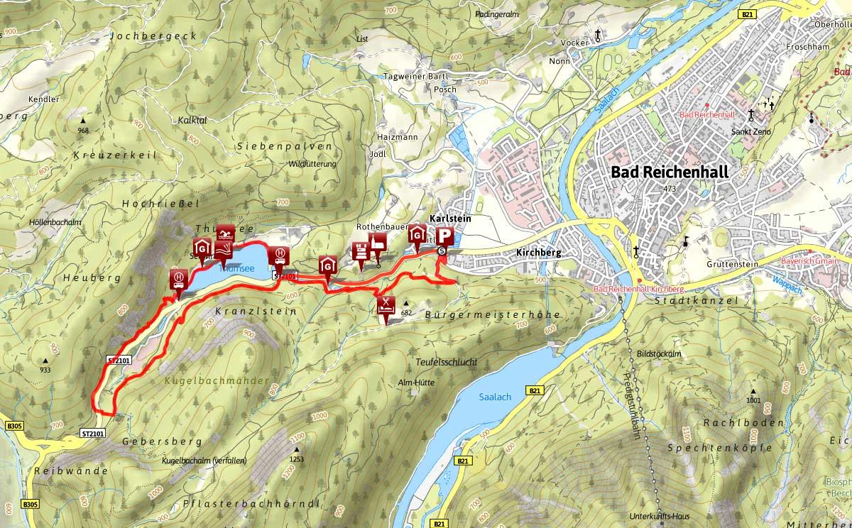 Thumsee gesundhiets Wanderung Bad Reichenhall