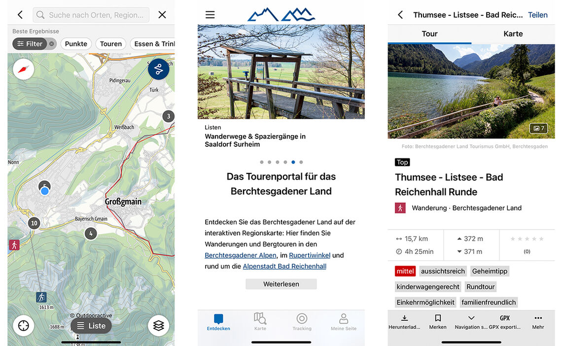 Screenshots BGL App