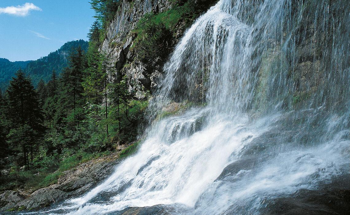 Wasserfall in der Weissbachschlucht