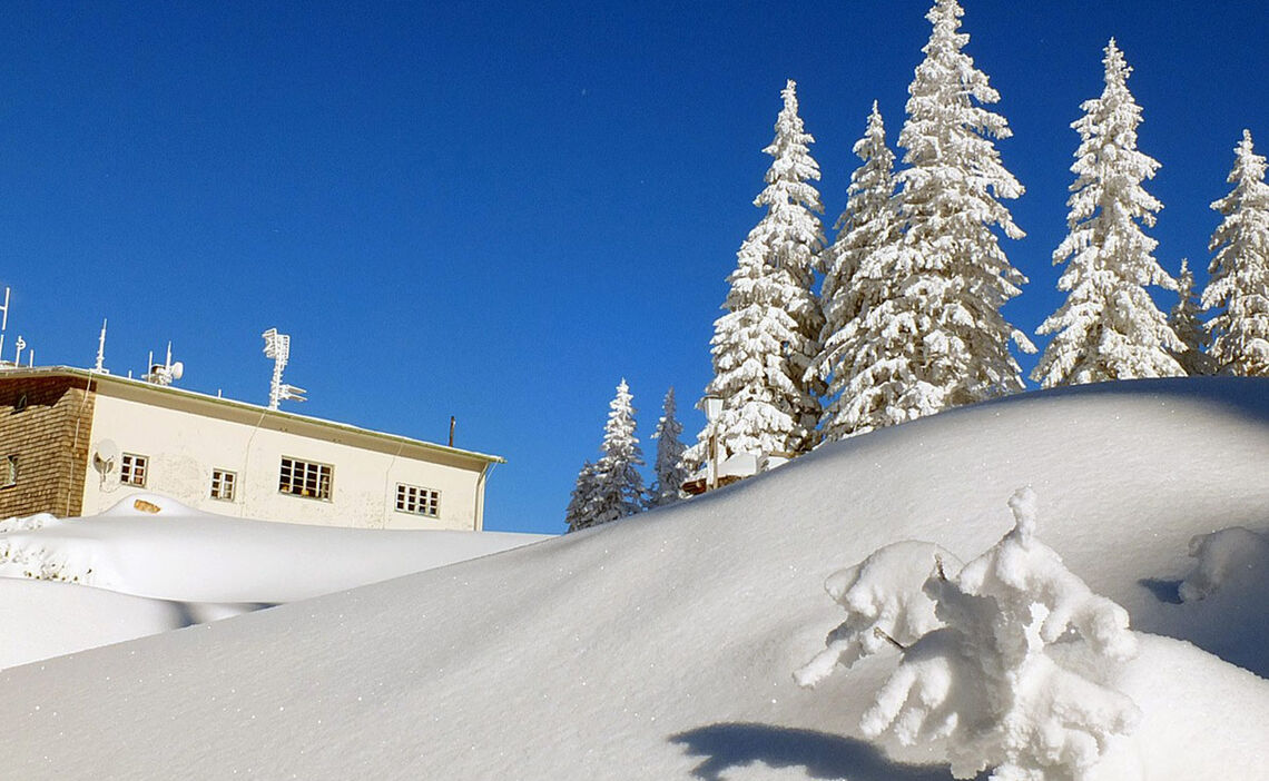 Winter An Der Bergstation Der Predigtstuhlbahn