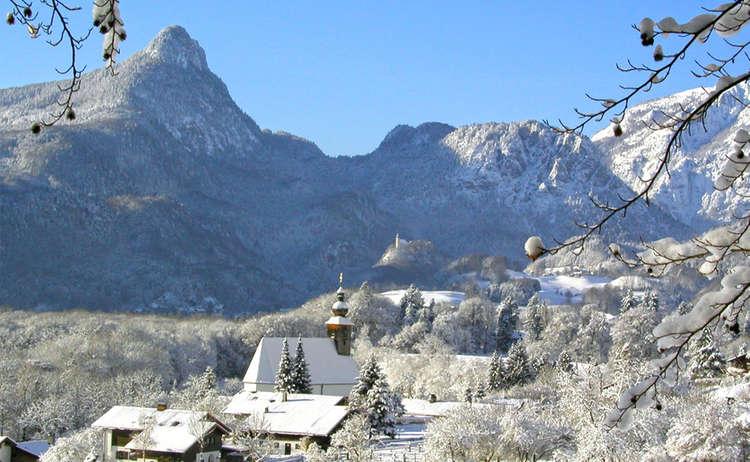 Winter Im Nonner Oberland Bei Bad Reichenhall