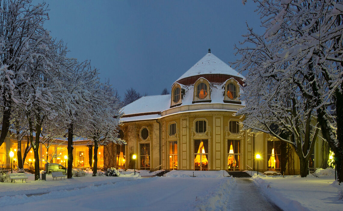 Winterwanderung Kurpark Konzertrotunde Bad Reichenhall