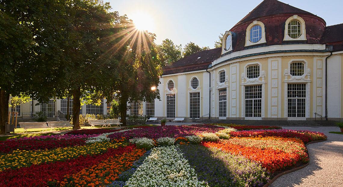 Wohlbefinden Kurgarten Konzertrotunden Alpenstadt Bad Reichenhall