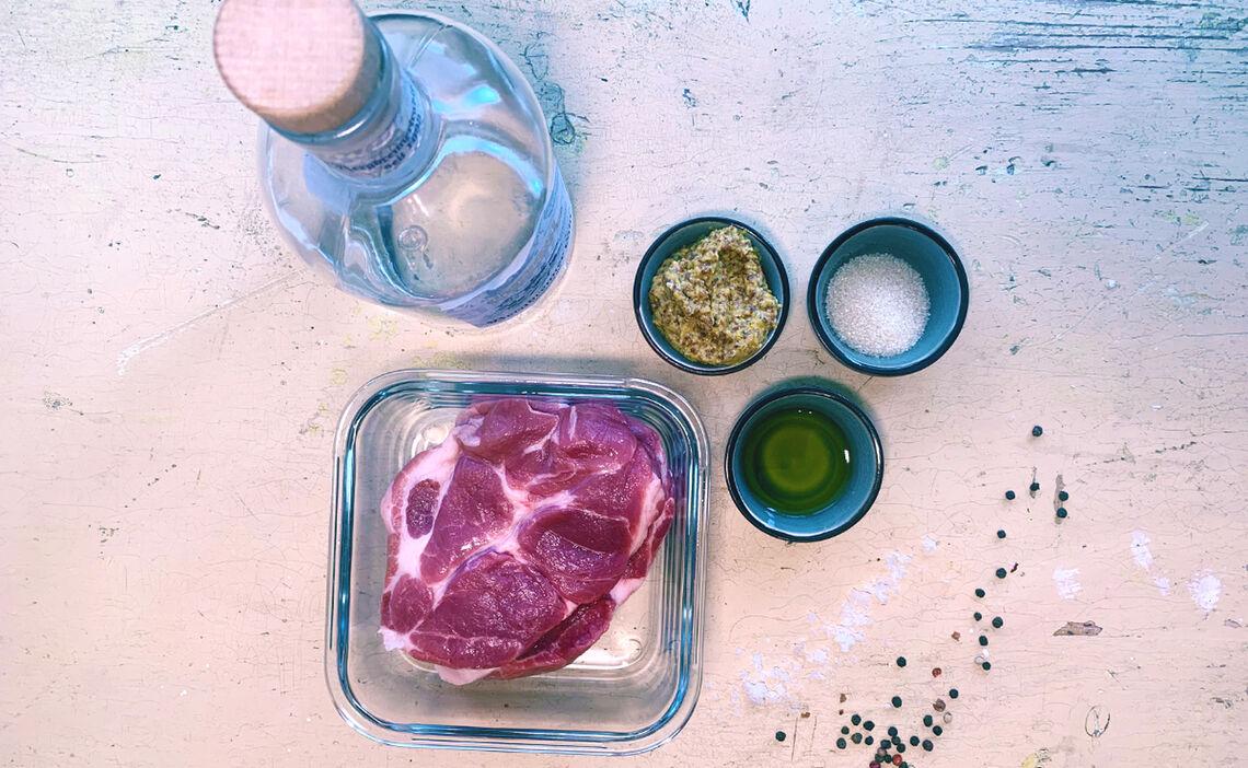 Zutaten für die leckere Grillfleischmarinade