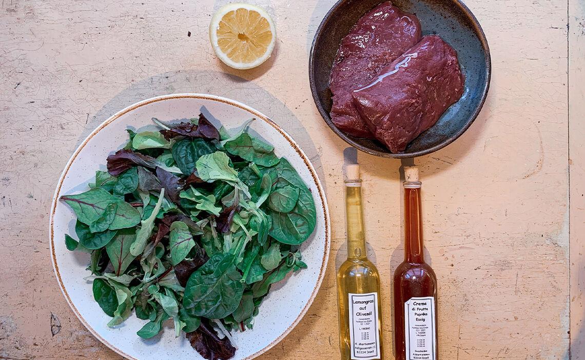 Zutaten Rehrücken mit Salat