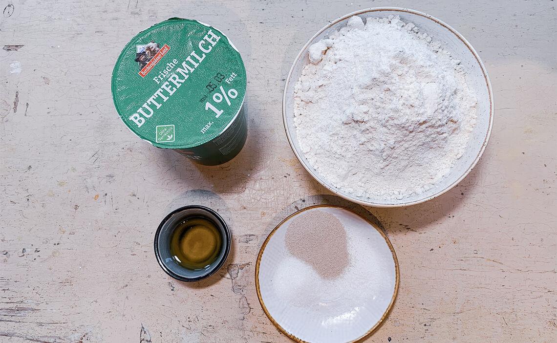Zutaten Buttermilchbrot