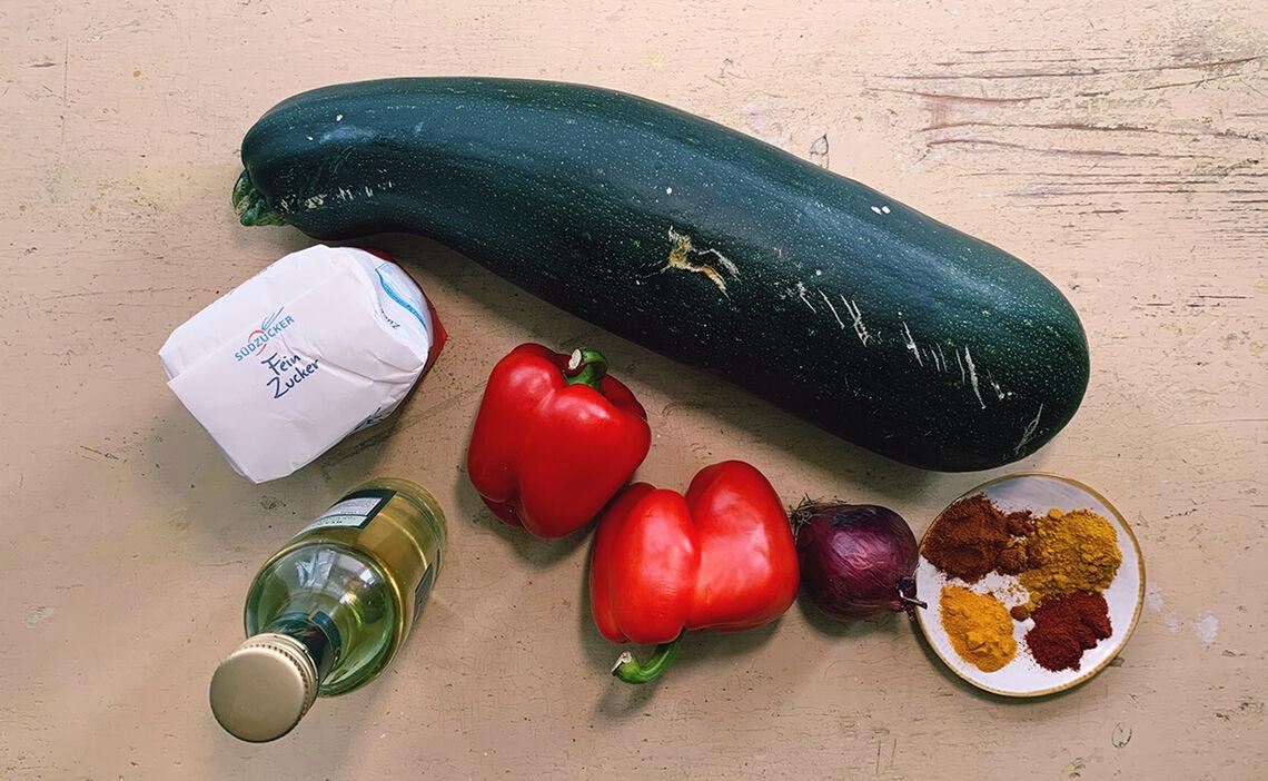 Zutaten Zucchini Chutney
