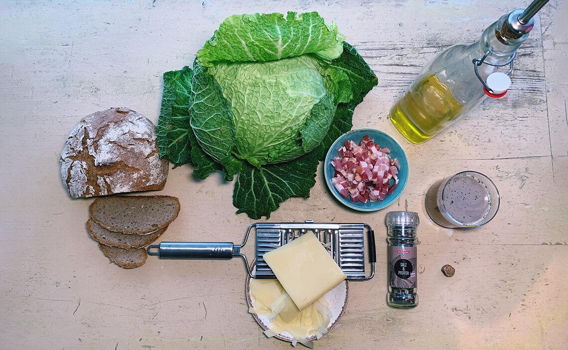 Zutaten Brot Wirsing Suppe