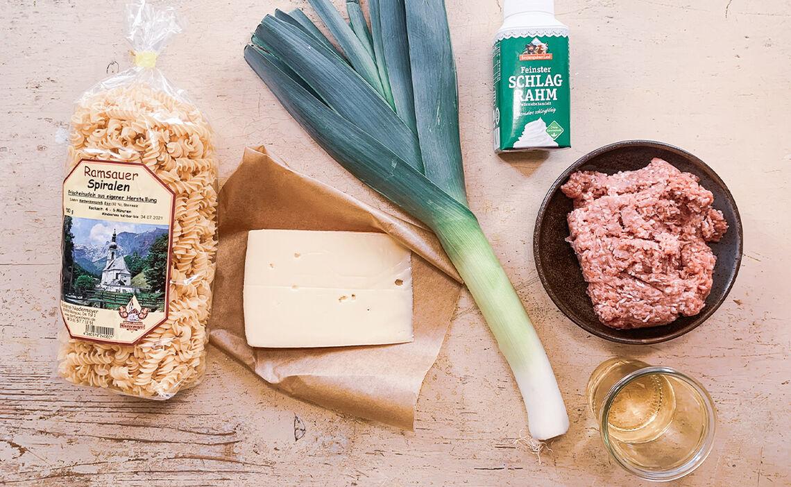 Zutaten für die Hackfleisch-Pfanne