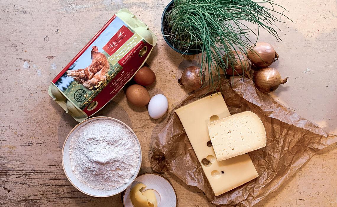 Zutaten Käsespätzle