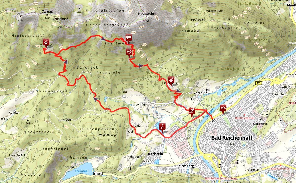 Zwieselalm Bartlmahd Bergtour